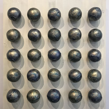 Bronze Wall Spheres