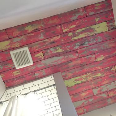 Barnwood Ceiling Mural