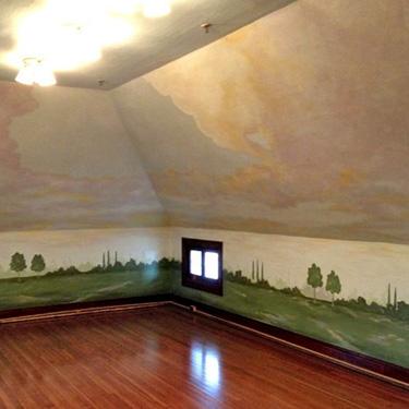 Cloudscape Mural