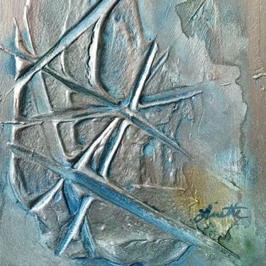 Criss Cross easel art
