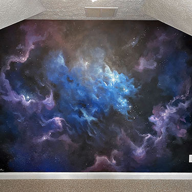 Outerspace galaxy mural