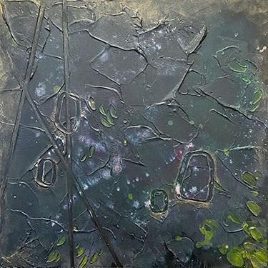 Mood Number Four - original plaster painting