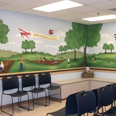 Dentist Waiting Room Mural