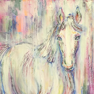 Polly horse painting