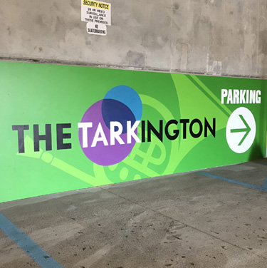 Tarkington Parking Garage Signs