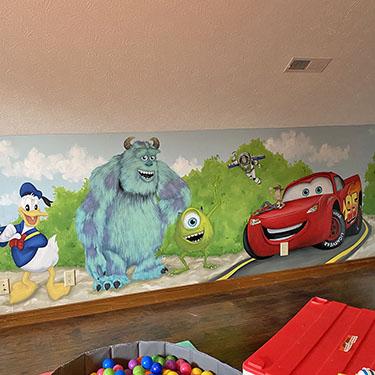 Disney Pixar Playroom Kids Mural
