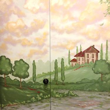 Tuscan Scene Door Mural