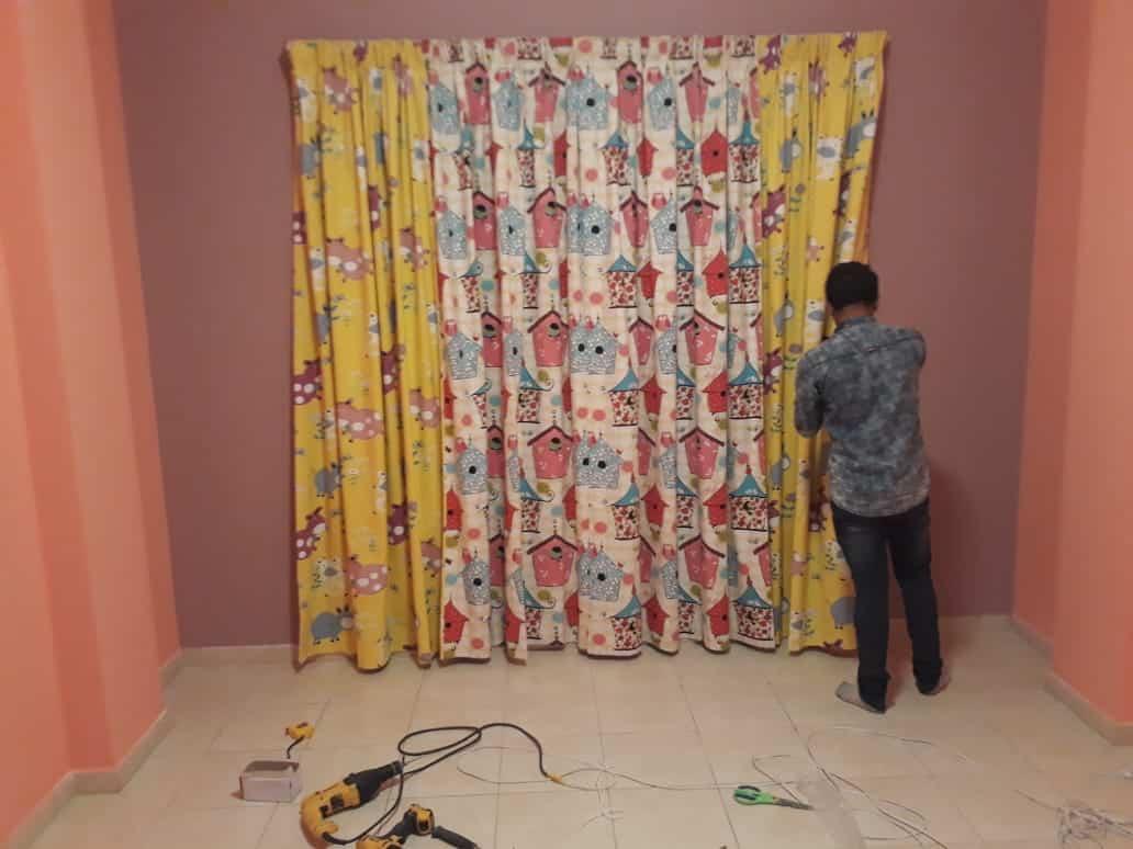 curtain installation services in dubai