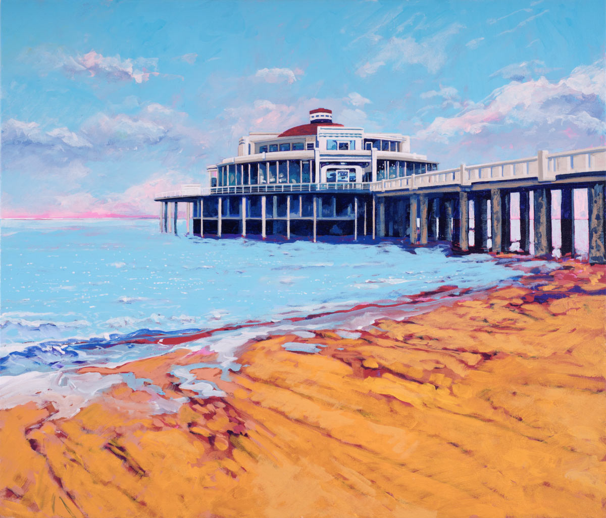 Painting of Blankenberge Pier