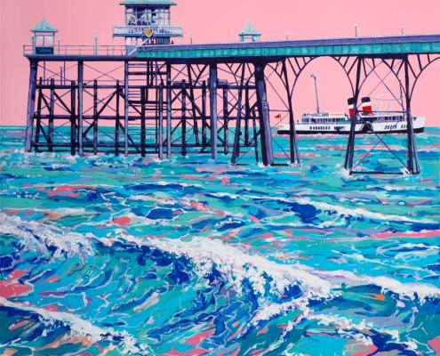 Painting of Clevendon Pier
