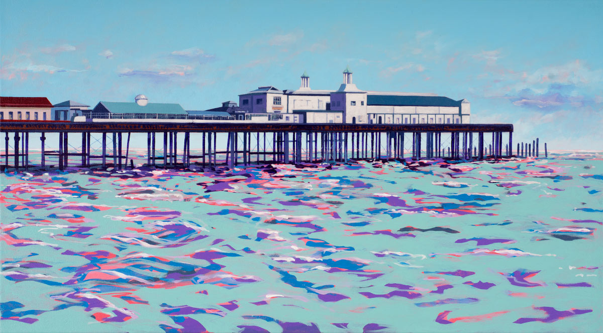 Painting of Old Hastings Pier