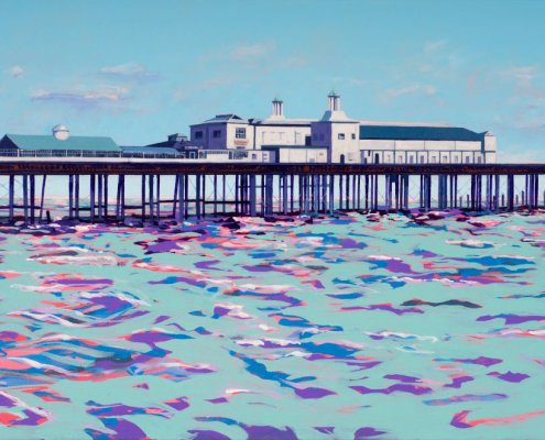 Painting of Old Hastings Pier