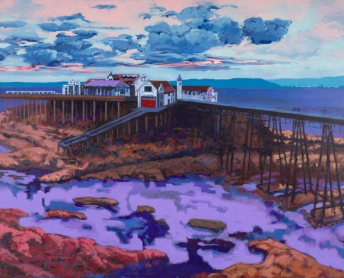 Painting of Weston-super-Mare Birnbeck Pier