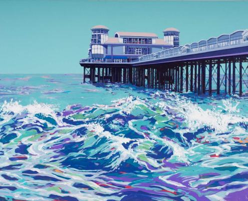 Painting of Weston-super-Mare Pier