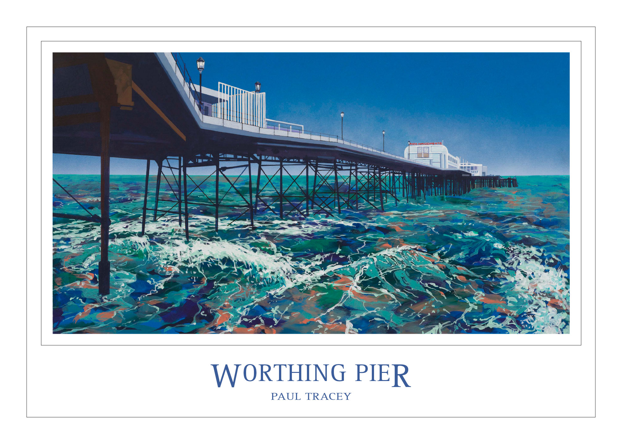 Poster of Worthing Pier Painting