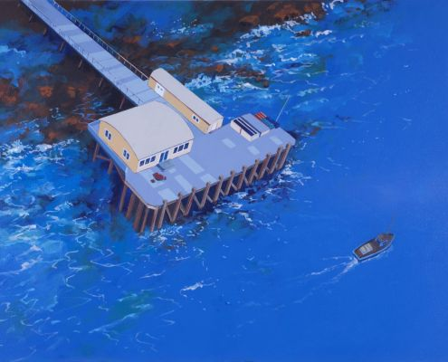 Painting of Salen Pier