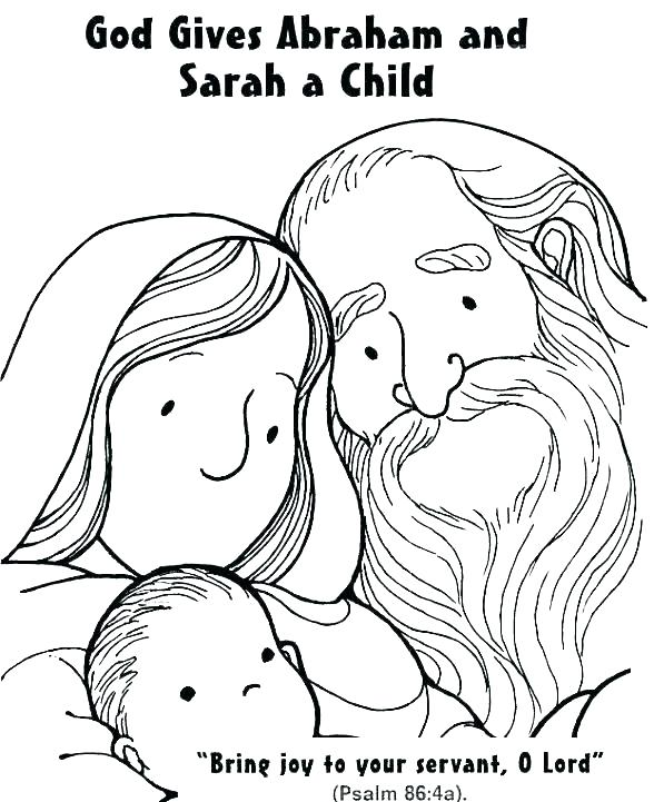 abraham and sarah coloring pages # 6