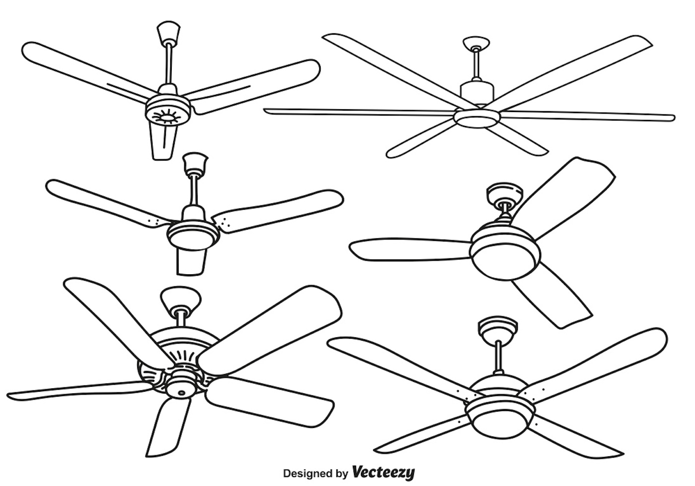 Ceiling Fan Drawing At Paintingvalley