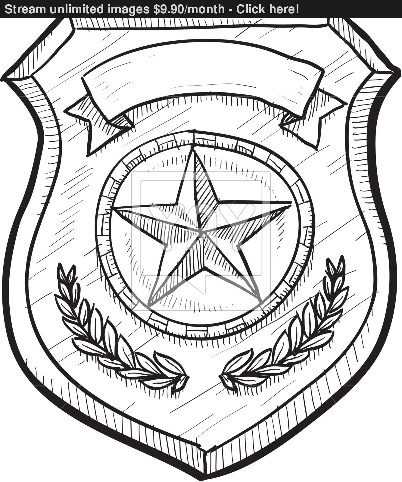 35 Latest Police Badge Drawing
