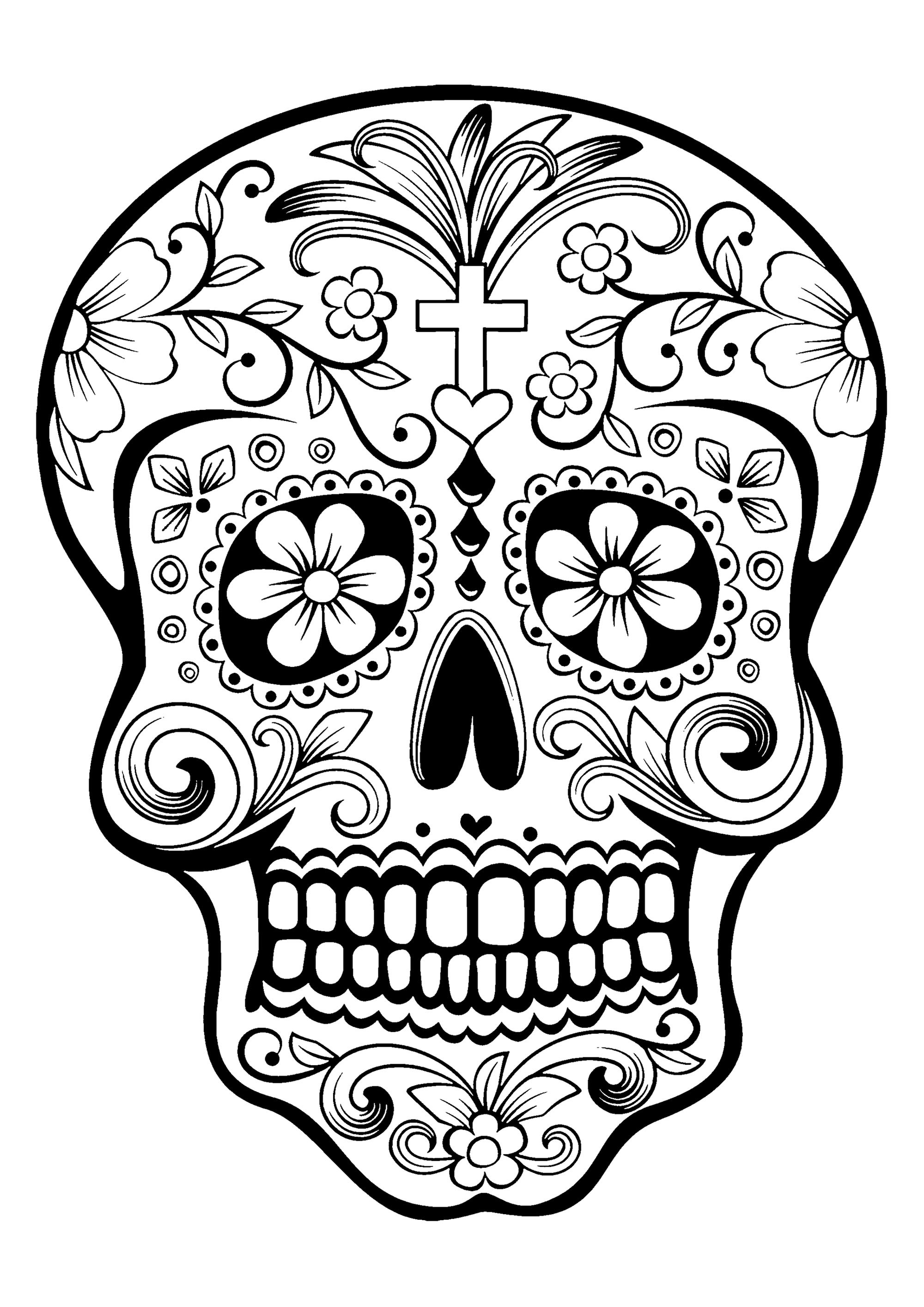Day Of The Dead Skeleton Drawings At Paintingvalley