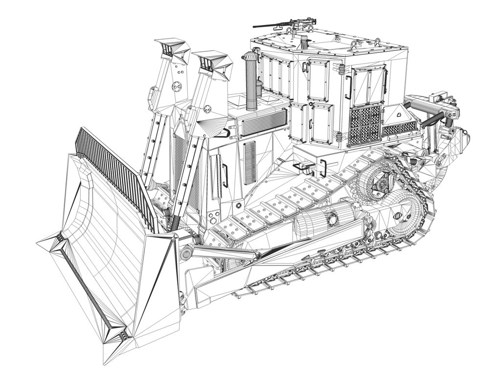 Bulldozer Frontal Drawing Wonderful Image Gallery