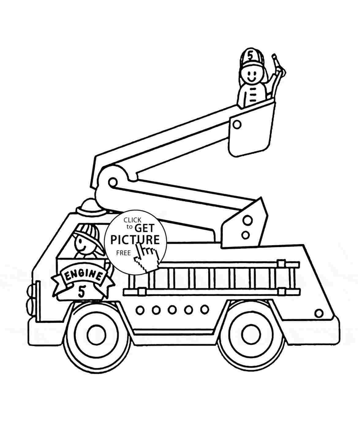 Easy Fire Truck Drawing At Paintingvalley