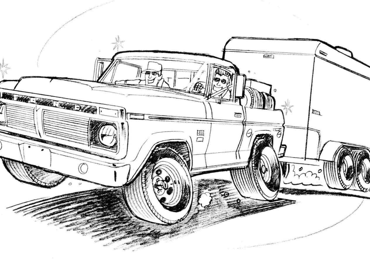 Ford Truck Drawings At Paintingvalley