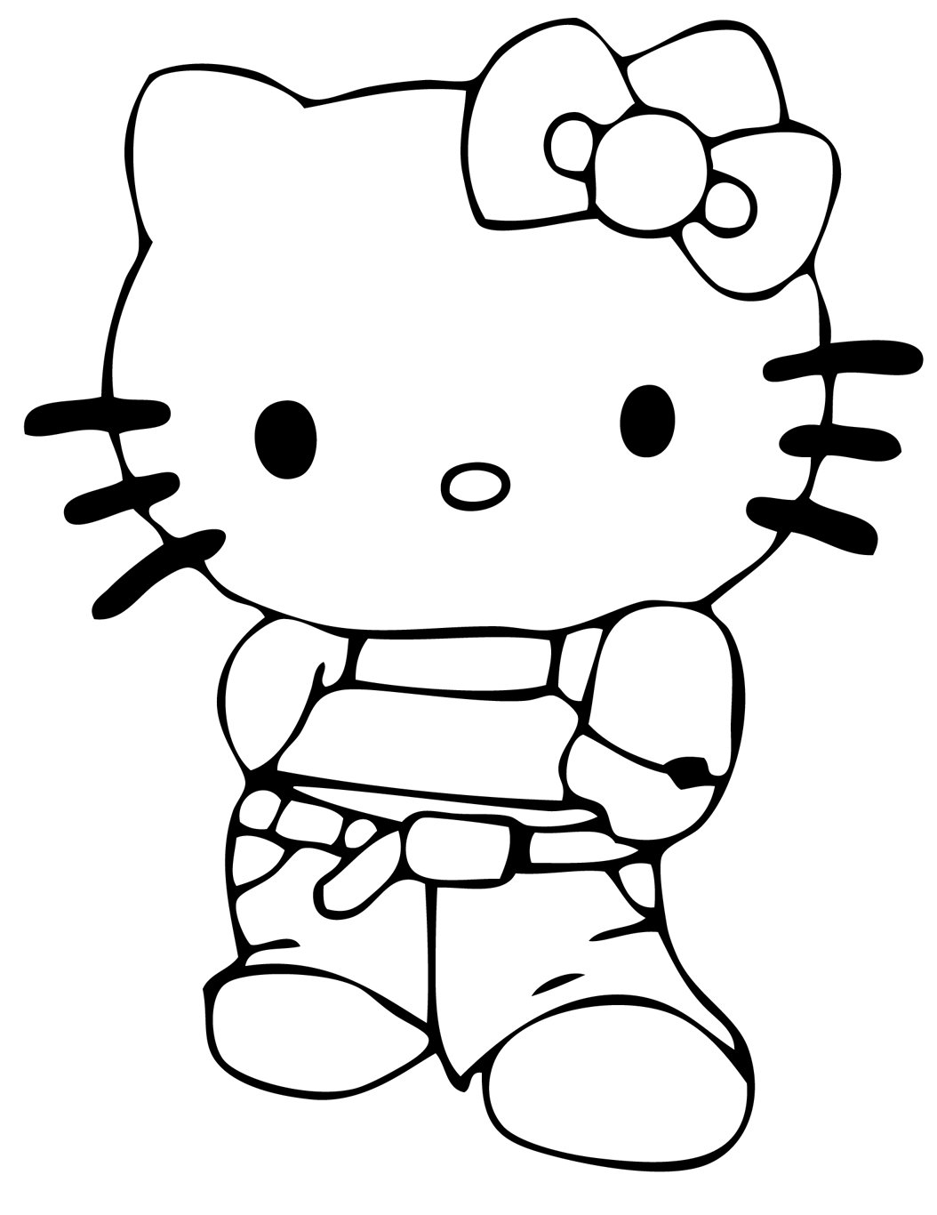 Hello Kitty Line Drawing At Paintingvalley