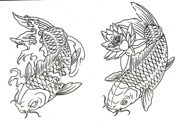 koi fish coloring pages # 80
