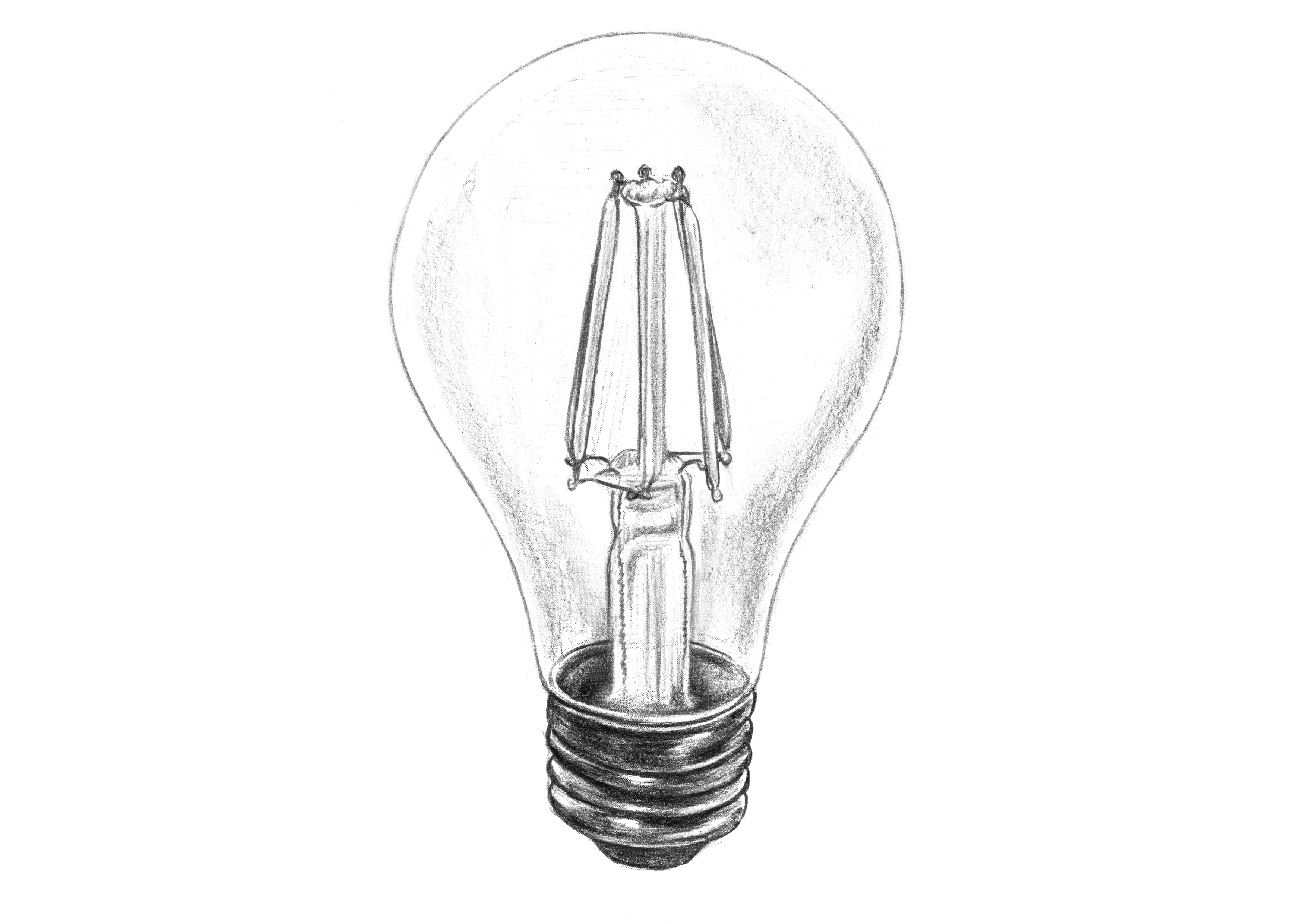 Light Bulb Drawing At Paintingvalley