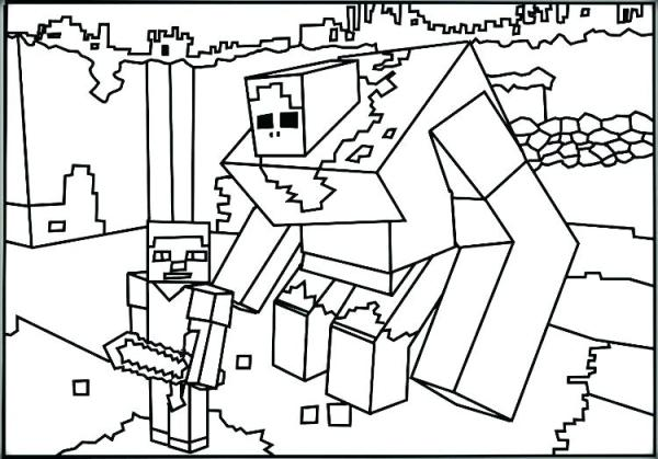 minecraft printable coloring pages # 70