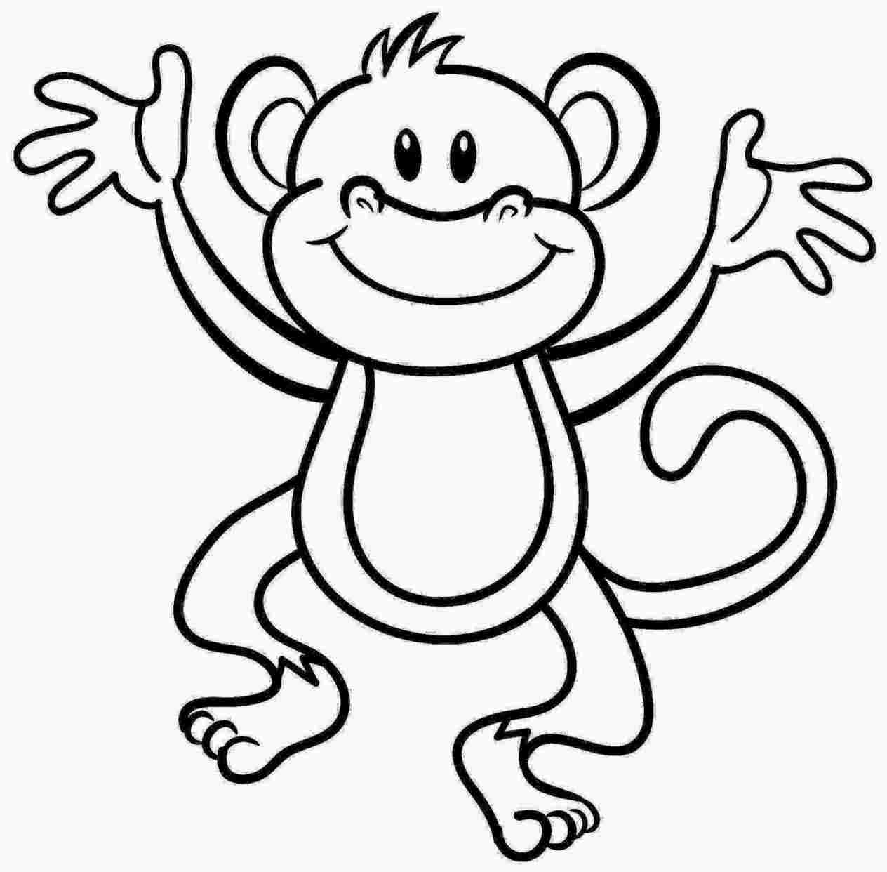 Drawing Monkey For Kids Monkey Drawings 48397 Anime Drawings