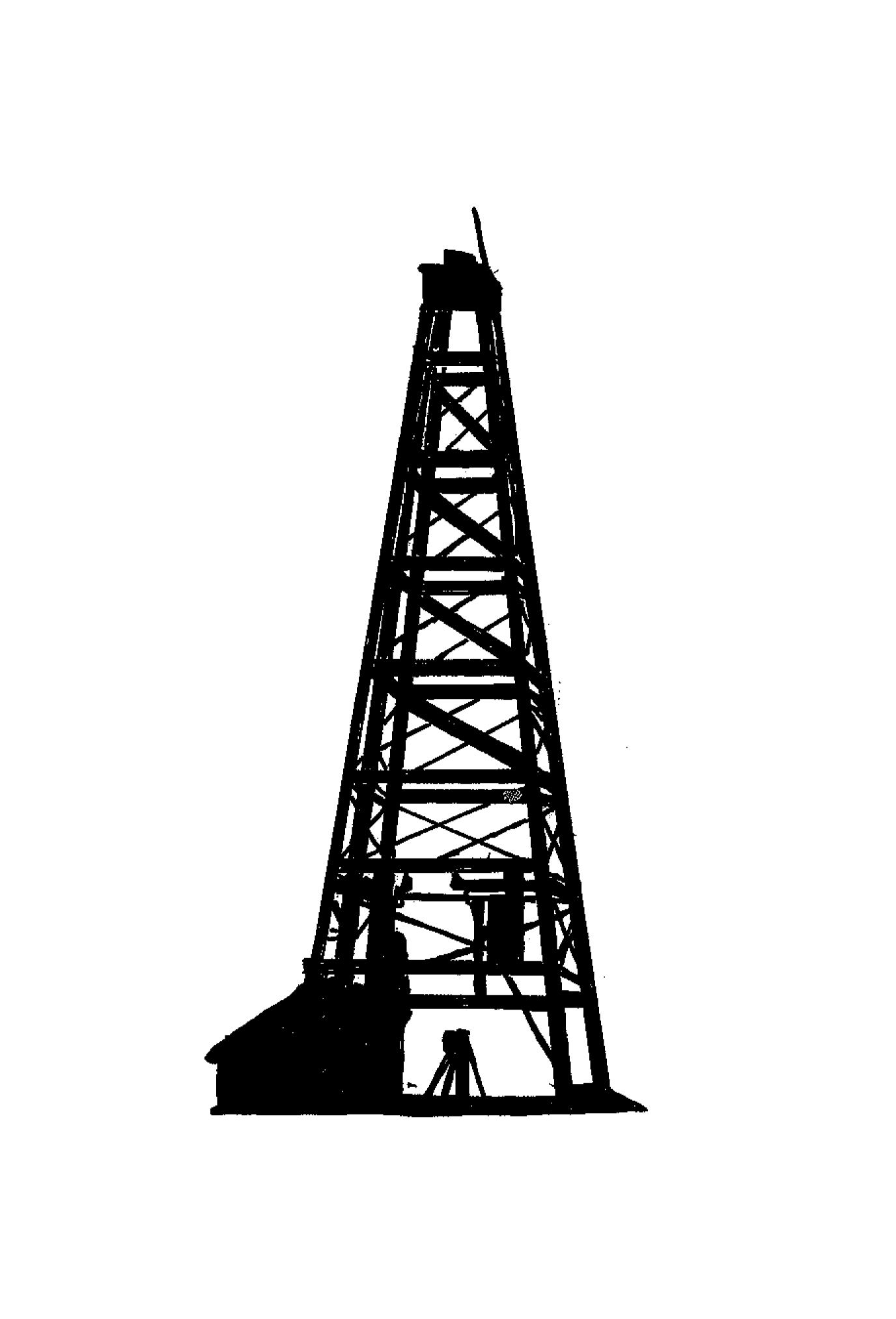 Oil Derrick Drawing At Paintingvalley