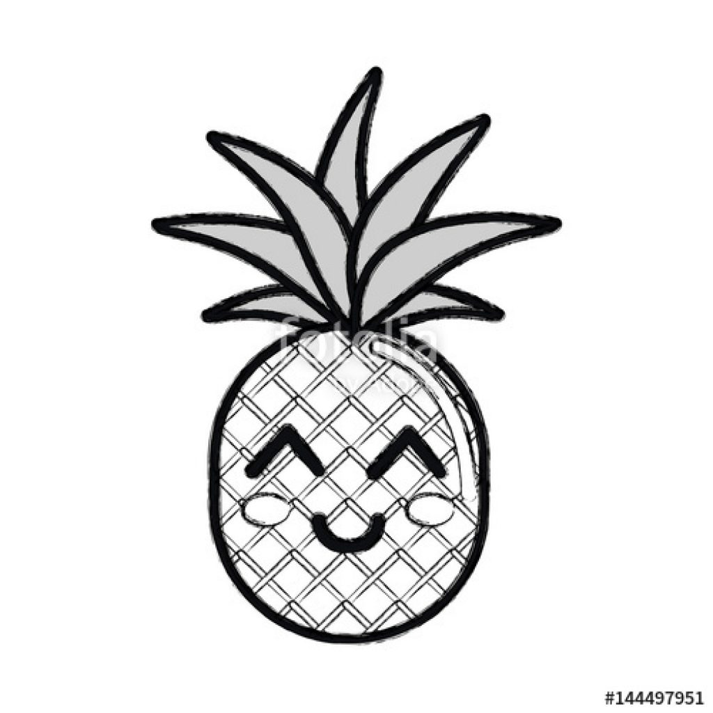 Pineapple Drawing Clip Art At Paintingvalley