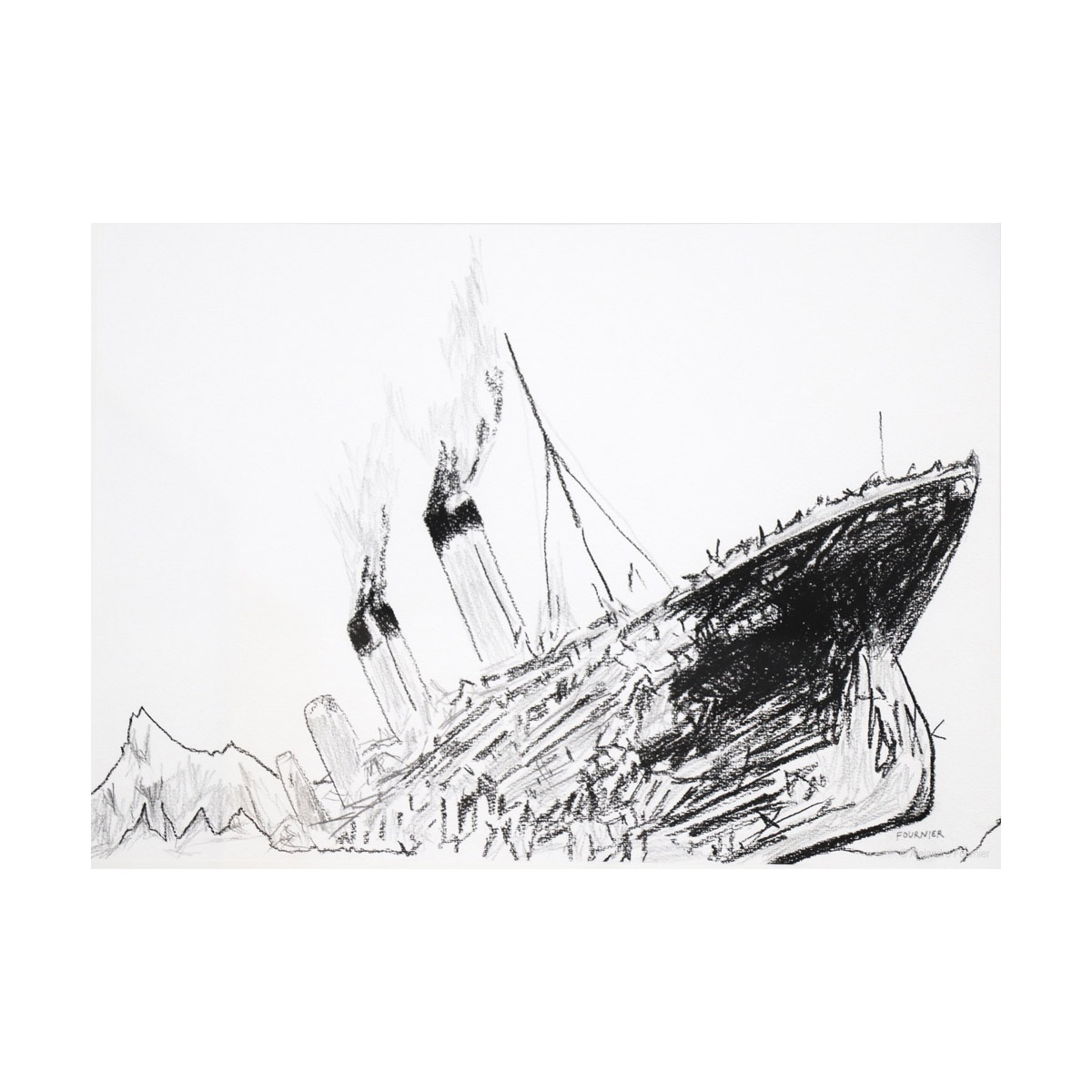 Ship Sinking Drawing At Paintingvalley