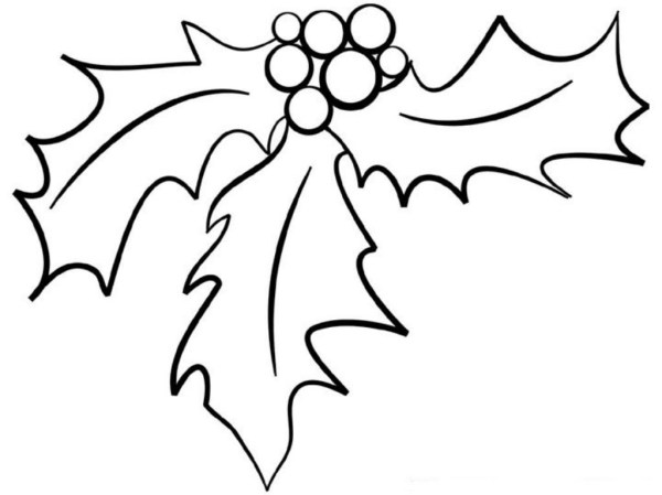 mistletoe coloring pages # 60