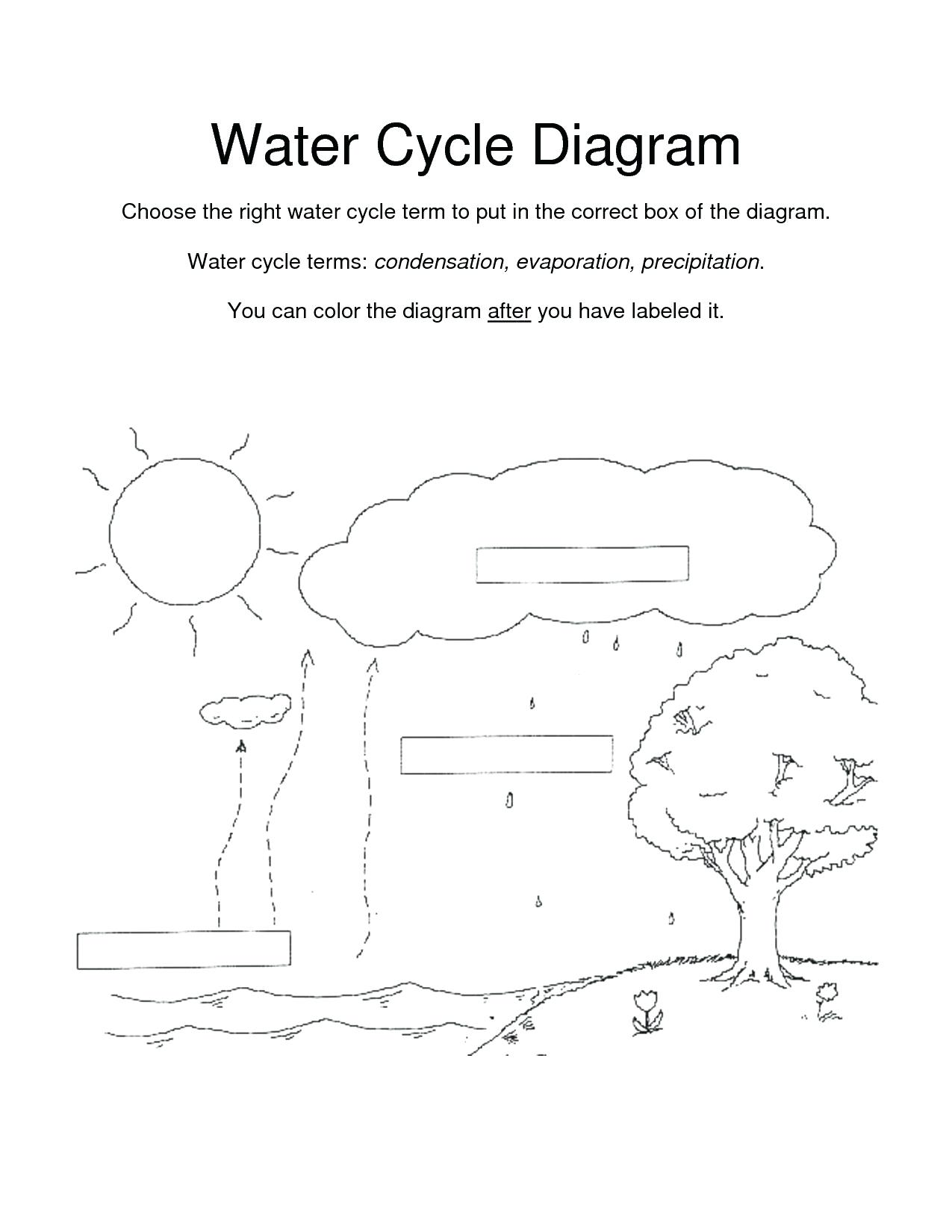 Simple Water Cycle Drawing At Paintingvalley
