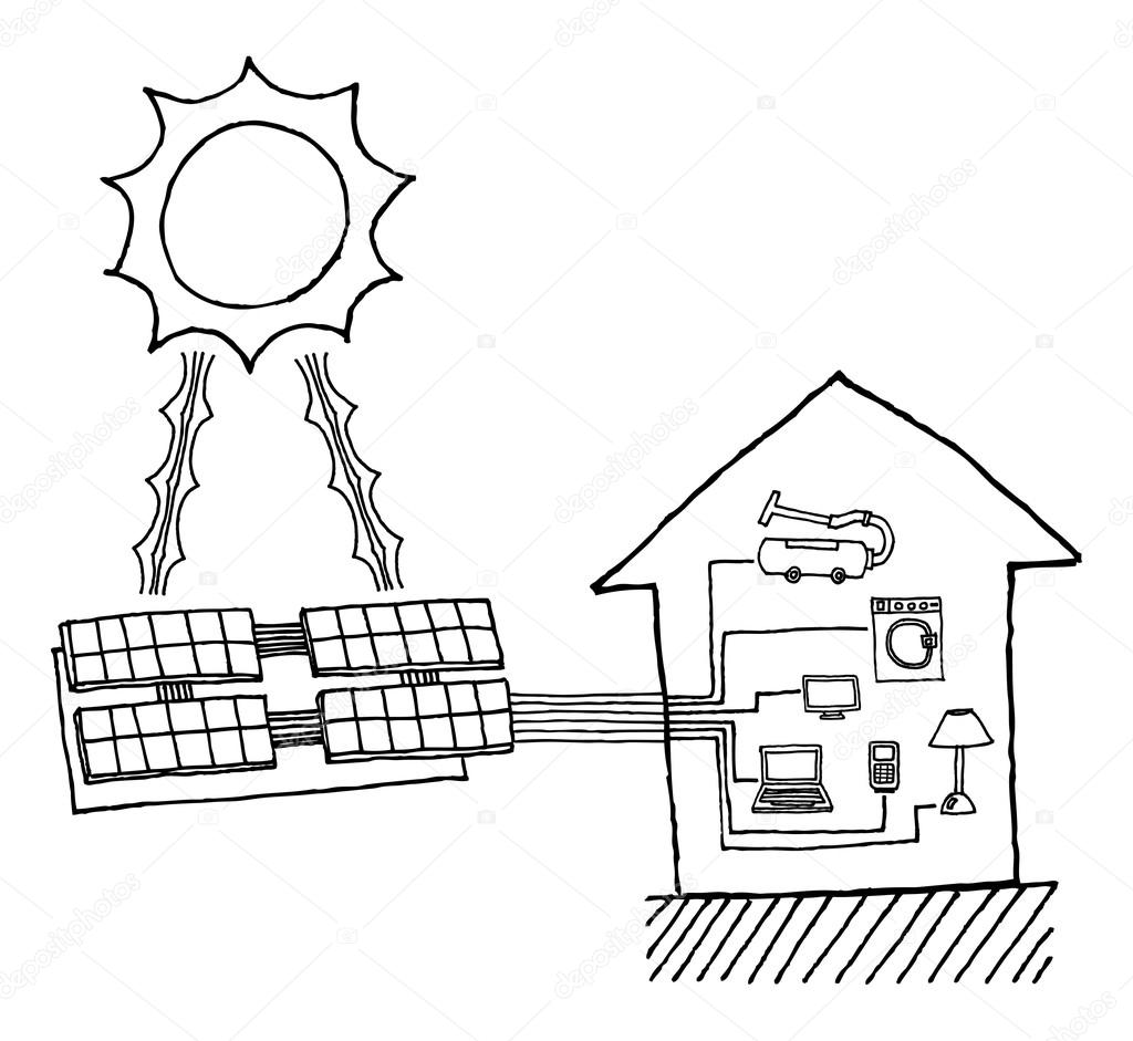 Solar Energy Drawing At Paintingvalley
