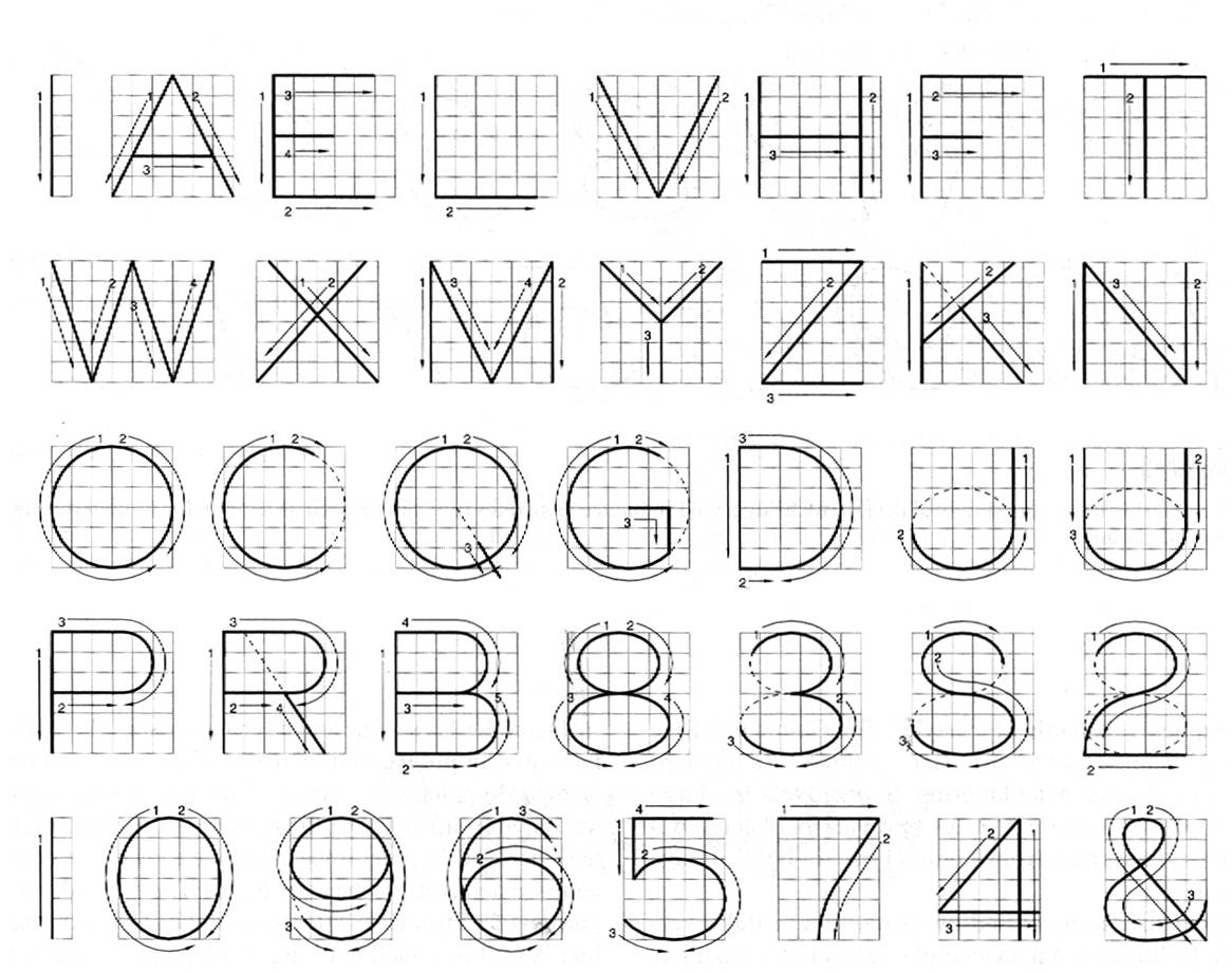 Technical Drawing Font At Paintingvalley