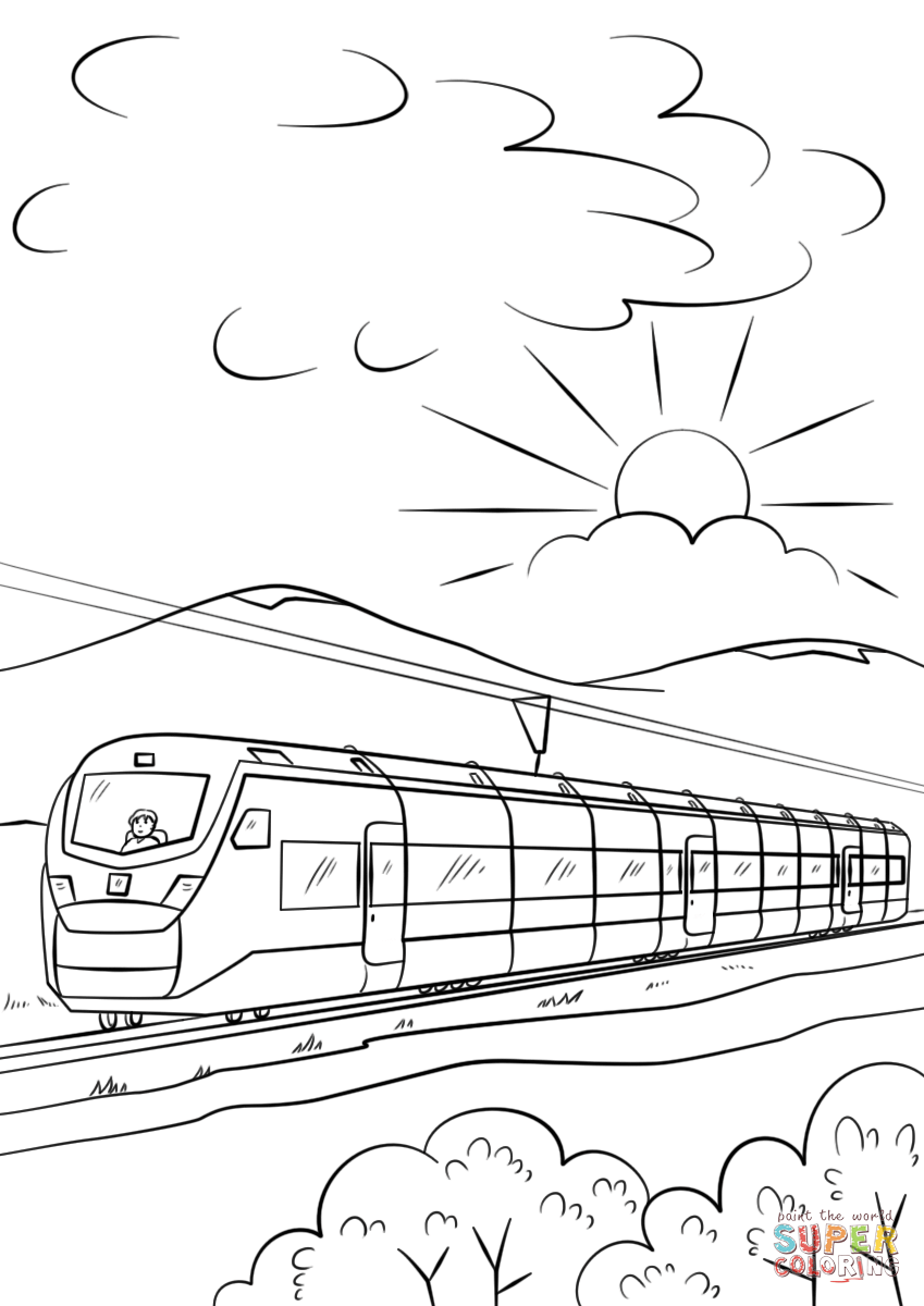 Train Drawing Outline at PaintingValley.com | Explore ...