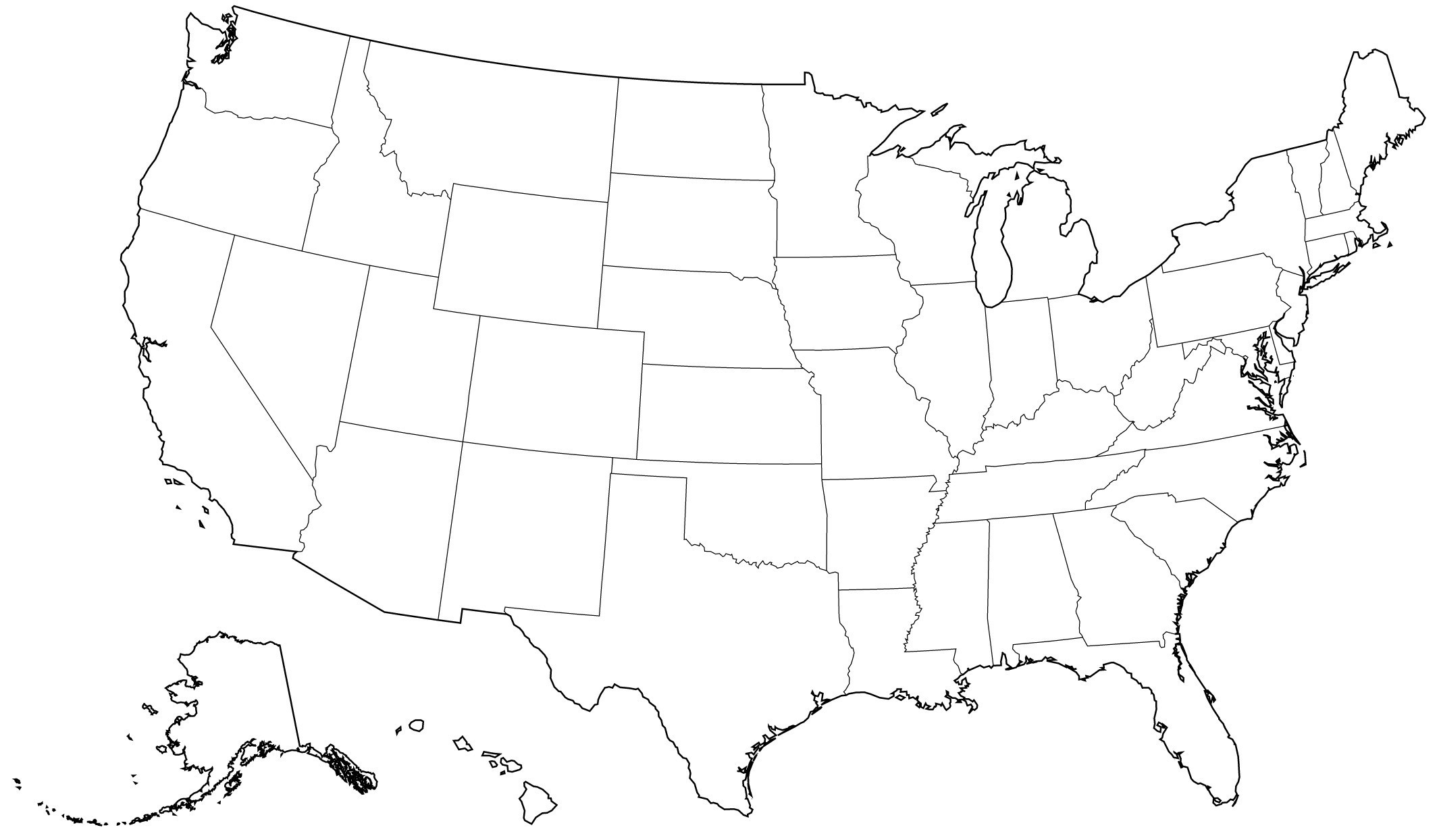United States Outline Drawing At Paintingvalley