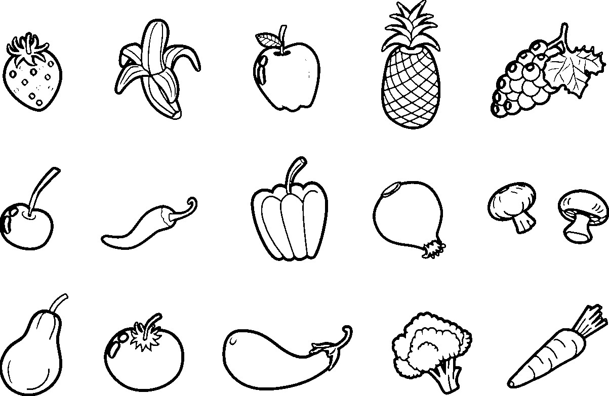 Vegetables Drawing For Kids At Paintingvalley