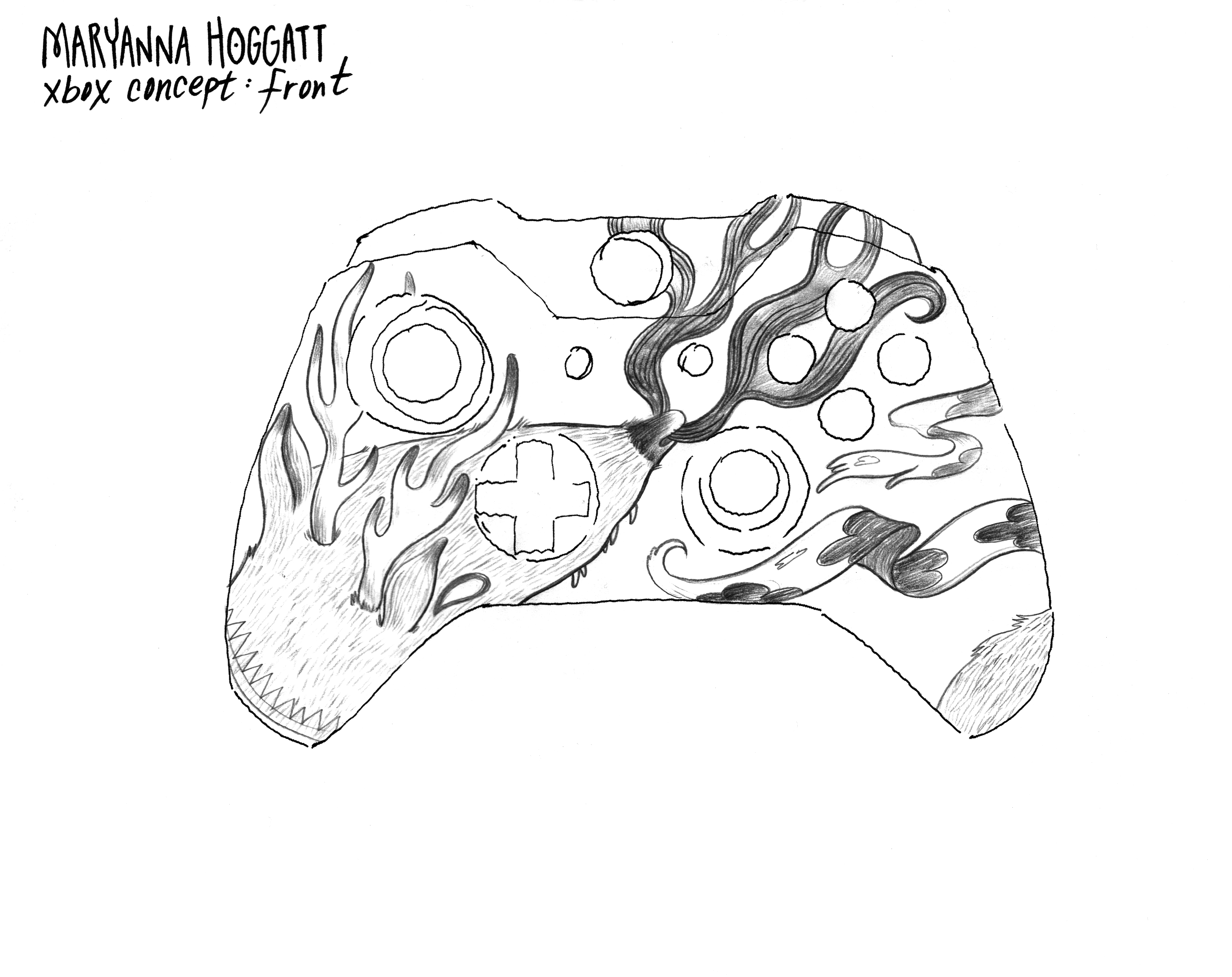 How To Draw A Xbox One Controller