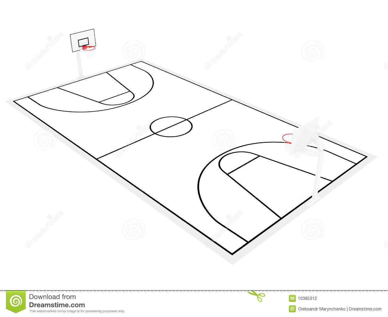 Basketball Court Sketch At Paintingvalley