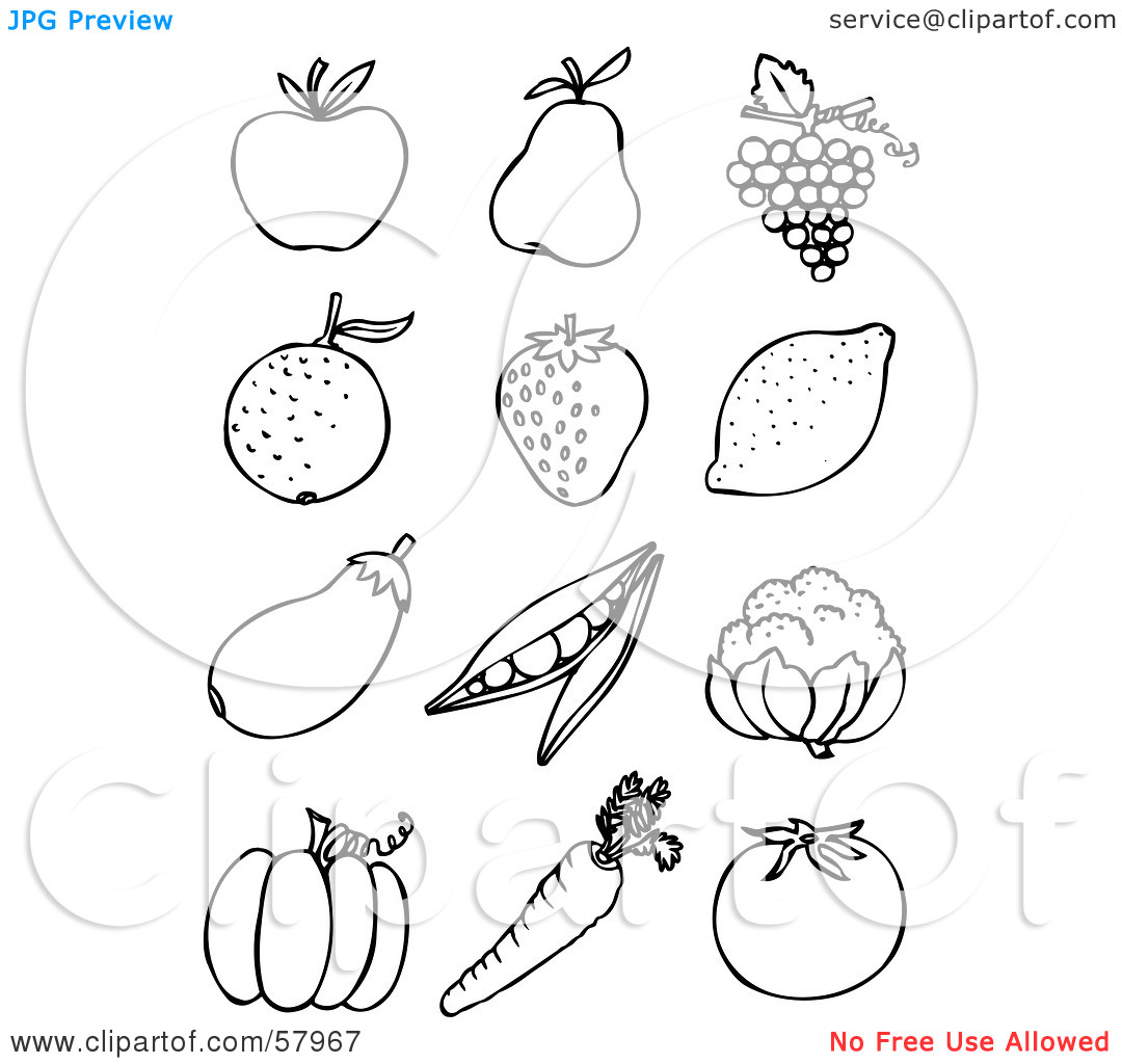 Fruits And Vegetables Sketch At Paintingvalley