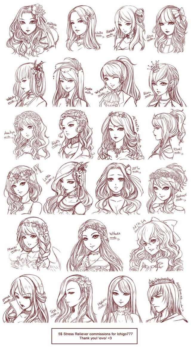 hairstyles sketch at paintingvalley | explore collection