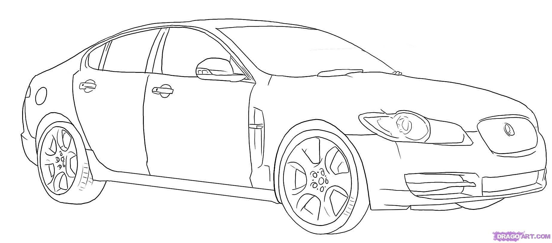 Jaguar Car Sketch At Paintingvalley