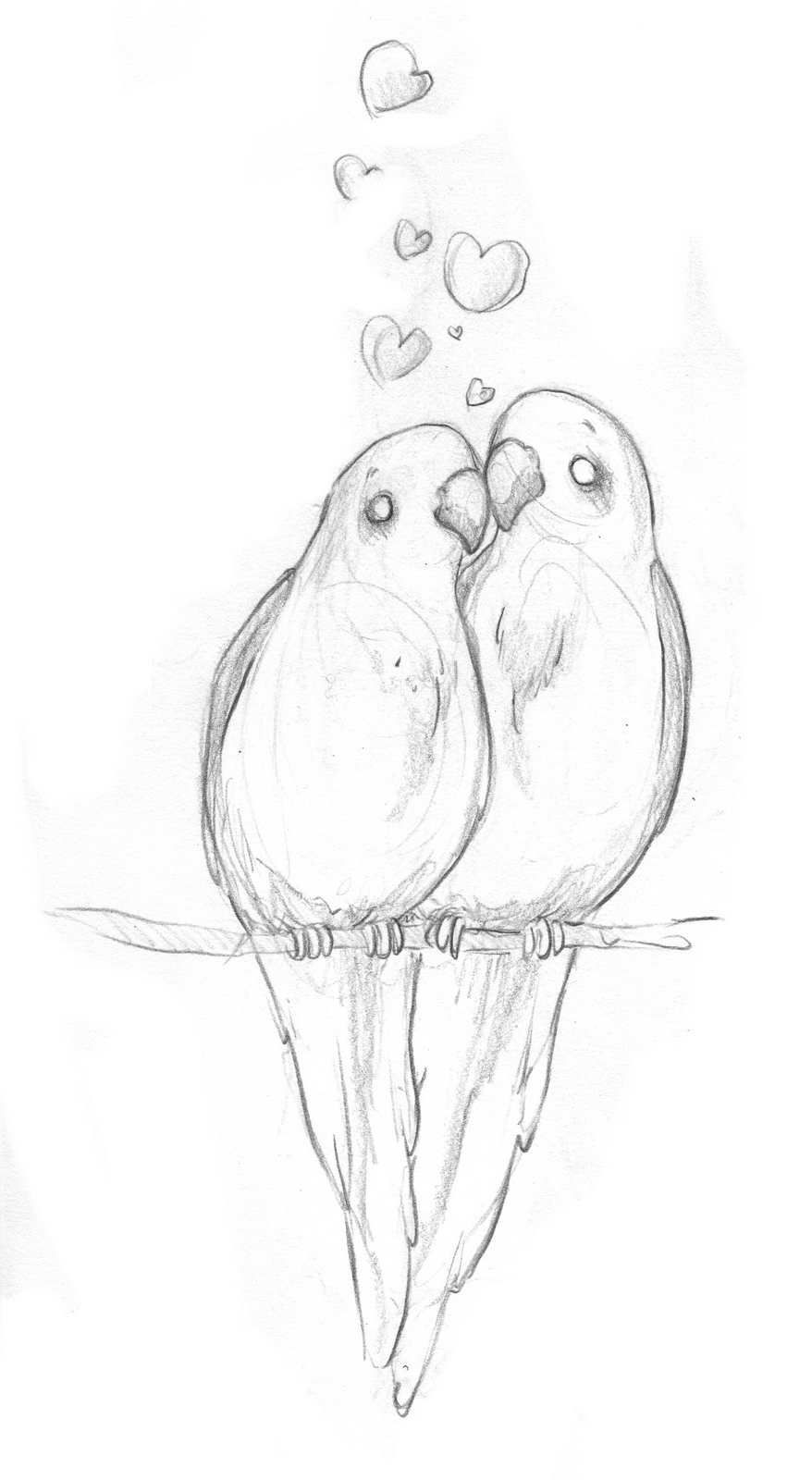 Love birds sketch at paintingvalley com explore collection of love