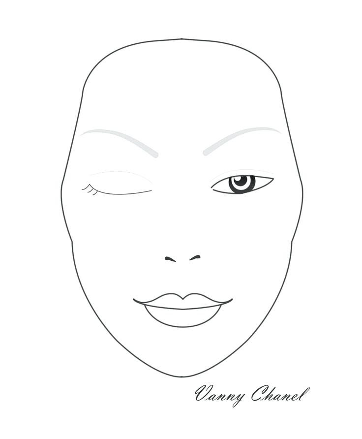 Makeup Face Drawing Template Kakaozzankco