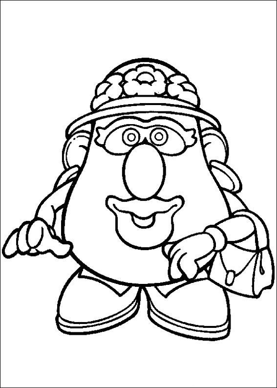 mr potato head coloring pages # 35
